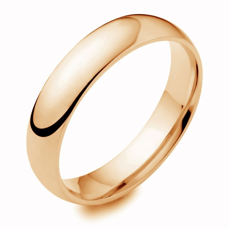 18ct gold 4mm wedding band ring austen jewellers