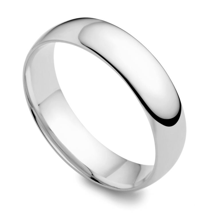 18ct white gold 5mm wedding ring austen jewellers