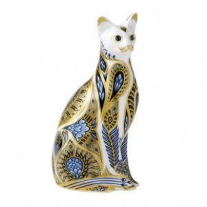 Royal Crown Derby Blue Point Siamese Cat