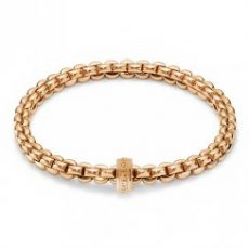 Fope Flex it Eka 18ct Rose Gold Bracelet