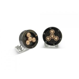 Deakin & Francis Sun & Planet Black Cufflinks