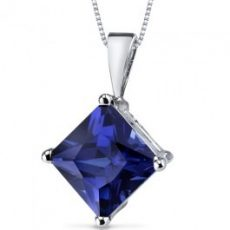 Carat* Blue Princess Pendant
