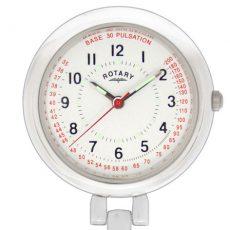 Nurse's Fob Watch In White Brass