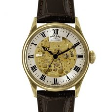 Rotary Gold plated Skeleton watch