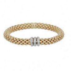 Fope Flex it Love Nest 18ct Yellow Gold Bracelet