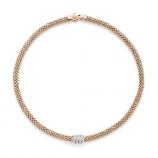 Fope 18ct Rose Gold Vendome Necklace