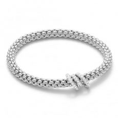 Fope 18ct White Gold Flex it Solo Bracelet