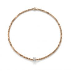 Fope 18ct Rose Gold Flex it Solo Necklace