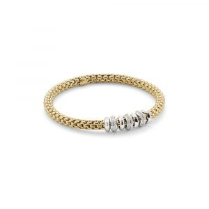 Fope 18ct Yellow Gold Flex it Solo Bracelet