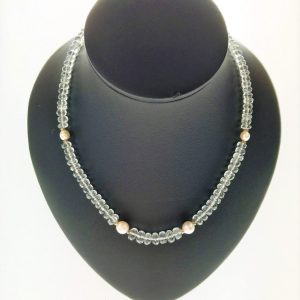 Aquamarine & Pearl Necklace