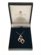 Diamond Teardrop Pendant with Chain