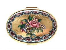 Halcyon Days Floral Enamel Box
