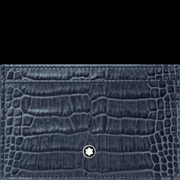 blue croc wallet
