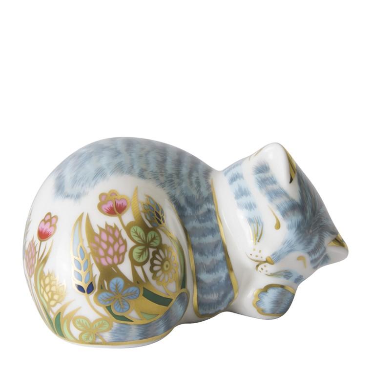 Royal Crown Derby Sleeping Tabby Cat Austen Jewellers
