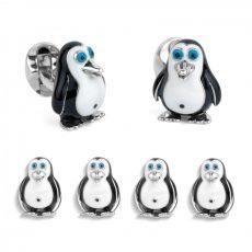 Deakin & Francis Silver Penguin Dress Stud Set