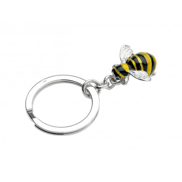 Sterling Silver Bumble Bee Key Ring
