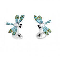 Deakin & Francis Blue Dragonfly Cufflinks