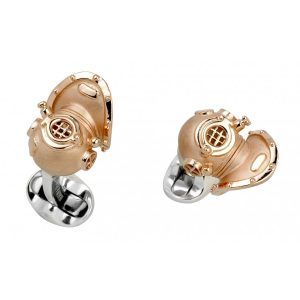 Sterling Silver Diving Helmet Cufflinks