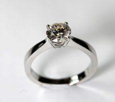 1.21ct Solitaire Diamond & Platinum Ring