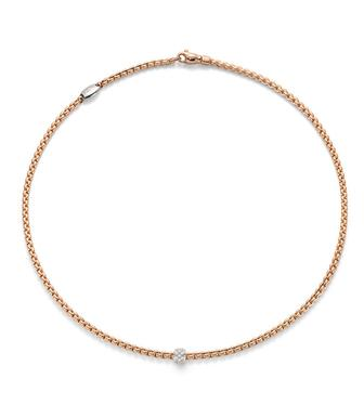 Fope Rose Gold Necklace