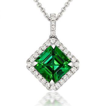 Tourmaline and Diamonds pendant