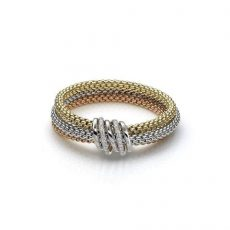 Mia Luce Diamond 18ct White, Rose and Yellow Gold Bracelet.
