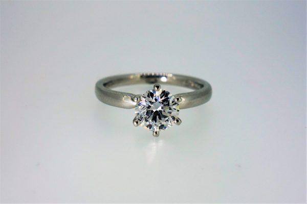 Top-Grade Platinum Single Stone Diamond Ring