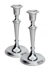 Pair Classic Solid Silver Candlesticks