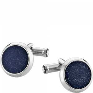 Blue inlay cufflinks