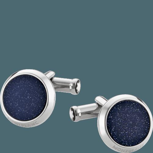Blue inlay cufflinks