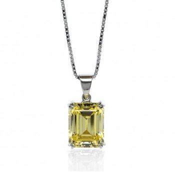 Carat Canary Yellow Pendant