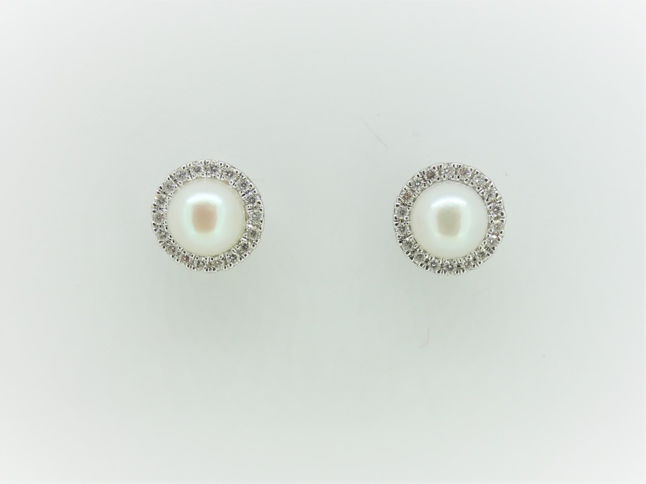 cultured pearl diamond halo two way earrings austen. Black Bedroom Furniture Sets. Home Design Ideas