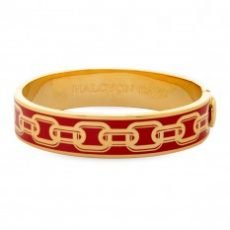 HD Chain Bangle Red & Gold