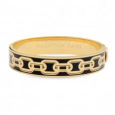 HD Chain Bangle black and gold