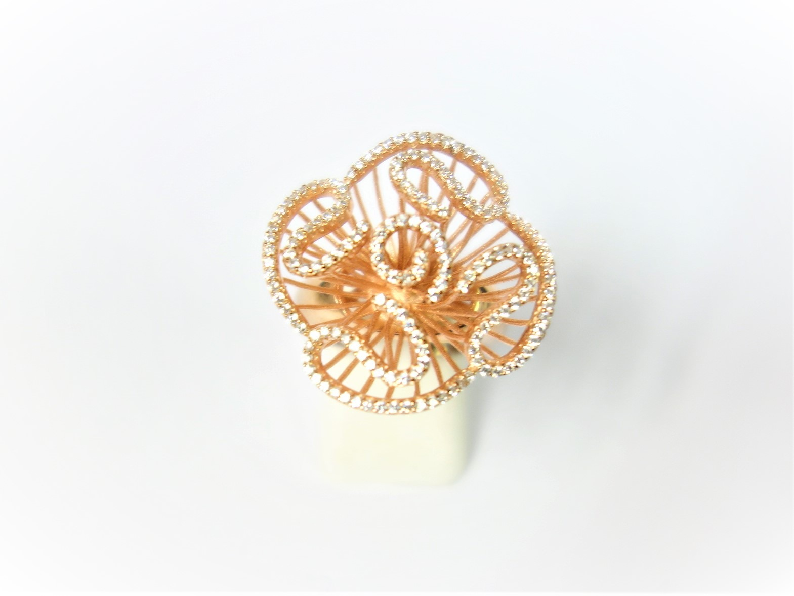 Sparkling Fei Liu Rose Ring Austen Jewellers