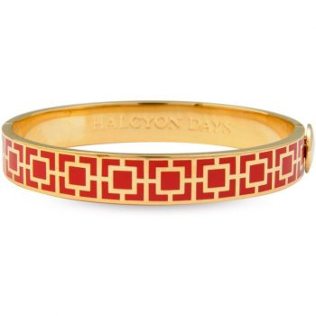 Halcyon Days Red and Gold Bangle