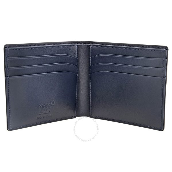 Open Montlanc Blue Wallet