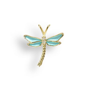 18ct dragonfly pendant