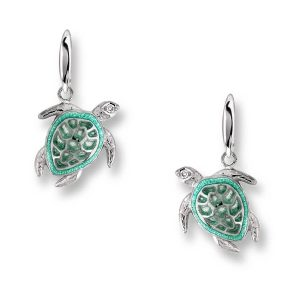 Turtle Wire Hook Earrings