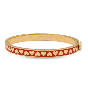 HD Heart Red and Gold Bangle