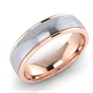 7E745 Palladium & 9ct Rose gold
