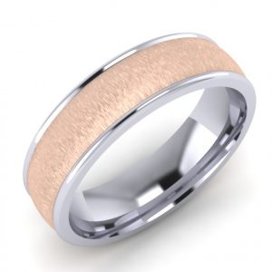 7E786A Palladium & 9ct Rose Gold