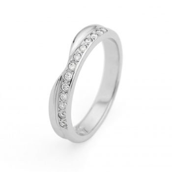 9ct White Gold Cut out Wedding Band