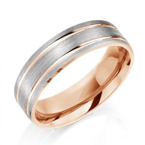 Charles Green teo colour wedding ring