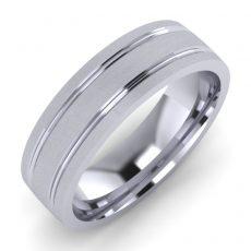 Machine Patterned Wedding Ring