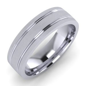Machine Patterned Wedding Ring