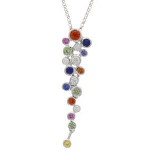 mixed sapphire pendant