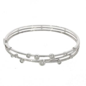 Diamond cross over bangle