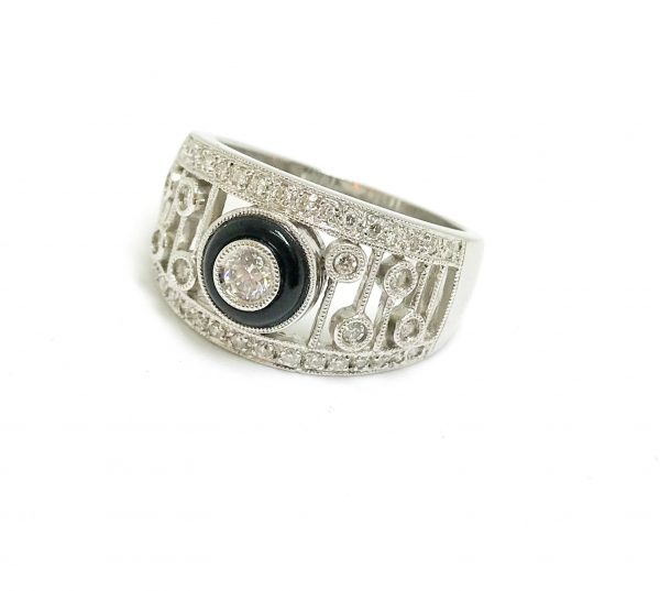 Diamond & Agate Ring