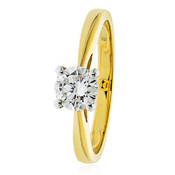 LMJ Single Stone YG Ring